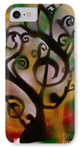 Musical Tree Golden Phone Case by Tony B Conscious