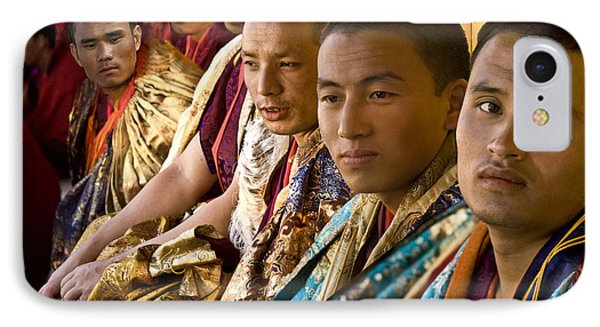 IPhone Case featuring the digital art Musicians From Bhutan by Angelika Drake