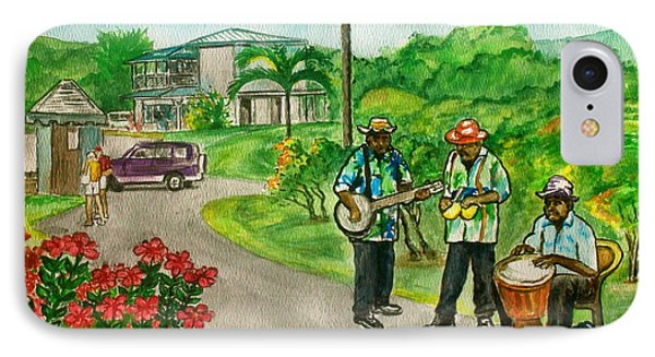 Musicians On Island Of Grenada IPhone Case