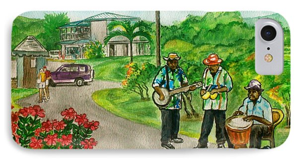 Musicians On Island Of Grenada IPhone Case by Frank Hunter