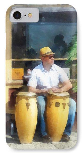 Musicians - Playing Bongo Drums Phone Case by Susan Savad