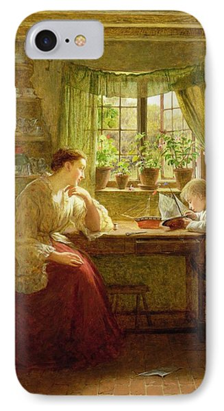 Musing On The Future, 1874 IPhone Case by George Smith