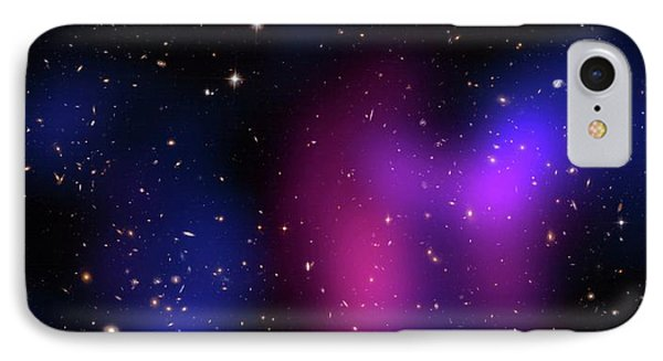 Musketball Galaxy Cluster IPhone Case by X-ray: Nasa/cxc/caltech/a.newman Et Al/tel Aviv/a.morandi & M.limousin; Optical: Nasa/stsci, Eso/vlt, Sdss