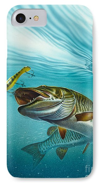 Muskie Troll Phone Case by Jon Q Wright