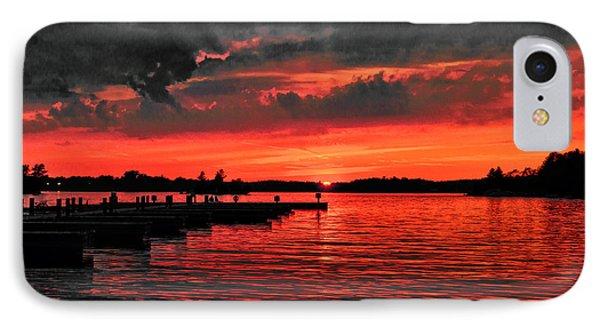 Muskoka Sunset IPhone Case by Les Palenik