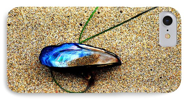 Mussel Shell And Seagrass IPhone Case by Bob Wall