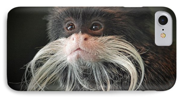Mustached Monkey Emperor Tamarin IIi  Phone Case by Jim Fitzpatrick