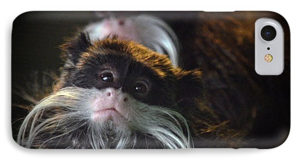 Mustached Monkeys Emperor Tamarins  Phone Case by Jim Fitzpatrick