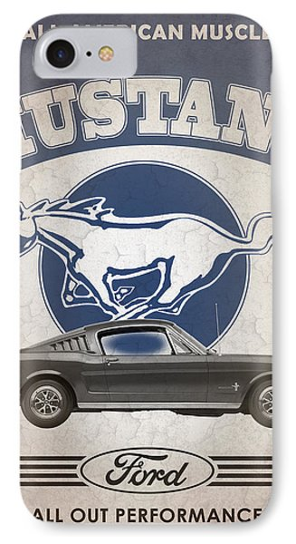 Mustang All American Muscle Phone Case by Mark Rogan