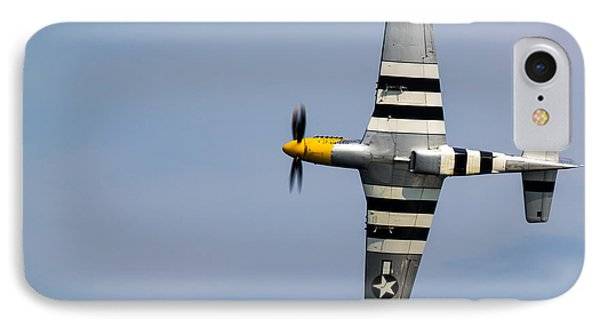 IPhone Case featuring the photograph Mustang Flyby D-day by Scott Lyons