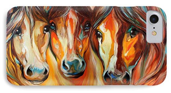 Mustang Gang  IPhone Case by Marcia Baldwin