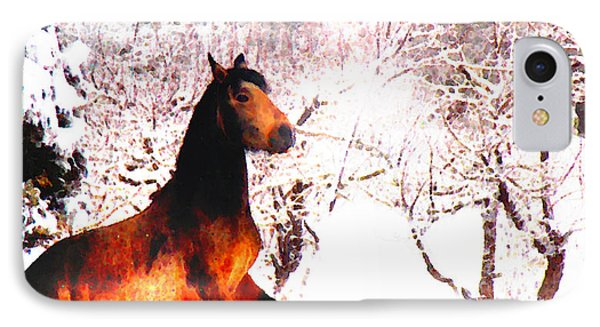 IPhone Case featuring the photograph Mustang In April Snow Luminosa by Anastasia Savage Ealy