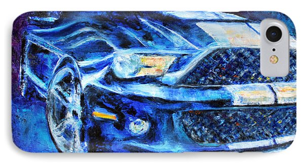 IPhone Case featuring the painting Mustang by Jennifer Godshalk