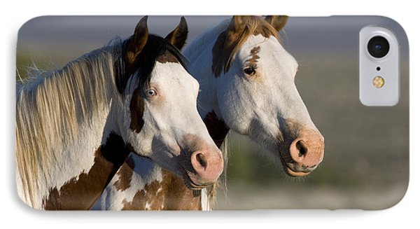 Mustang Mare And Son Phone Case by Jean-Louis Klein and Marie-Luce Hubert