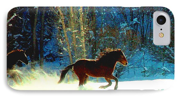 IPhone Case featuring the photograph Mustangs Gallope El Valle Nm by Anastasia Savage Ealy