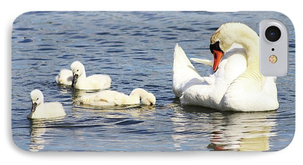IPhone Case featuring the photograph Mute Swans by Alyce Taylor