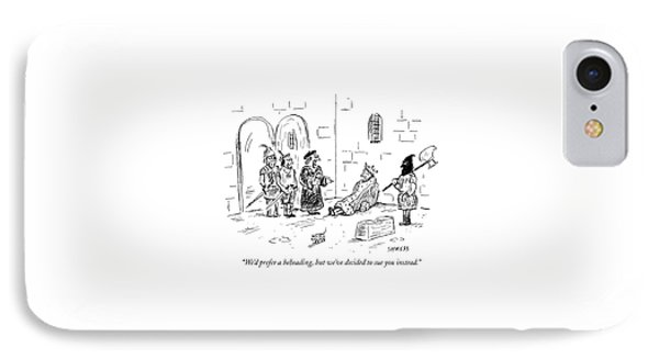Mutinous, Royal Soldiers And An Executioner IPhone Case by David Sipress