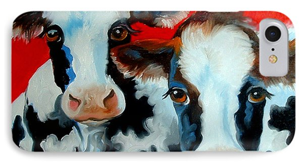 My 2 Fat Cows IPhone Case by Marcia Baldwin