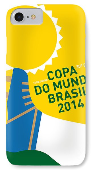 South America iPhone 7 Case - My 2014 World Cup Soccer Brazil - Rio Minimal Poster by Chungkong Art