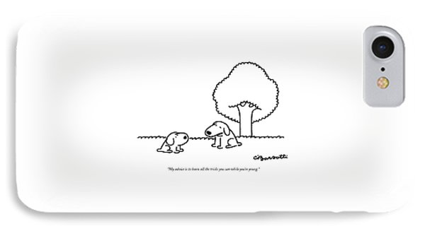 My Advice Is To Learn All The Tricks IPhone Case by Charles Barsotti