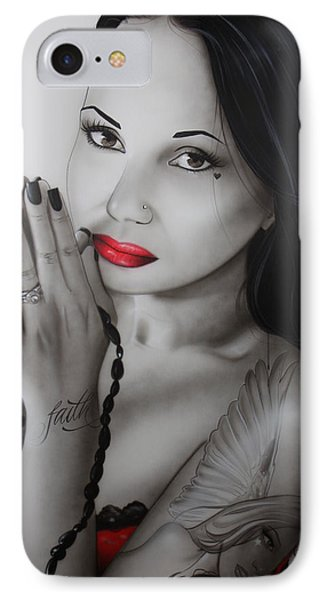 Portrait - ' My Angel Of Light ' IPhone Case by Christian Chapman Art