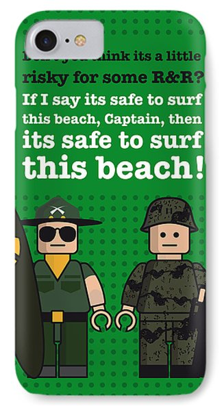 My Apocalypse Now Lego Dialogue Poster IPhone Case by Chungkong Art