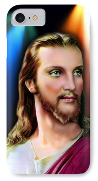 IPhone Case featuring the digital art My Beautiful Jesus 3 by Karen Showell