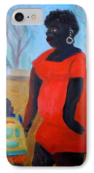 IPhone Case featuring the painting My Beautiful Mamma by Francine Frank