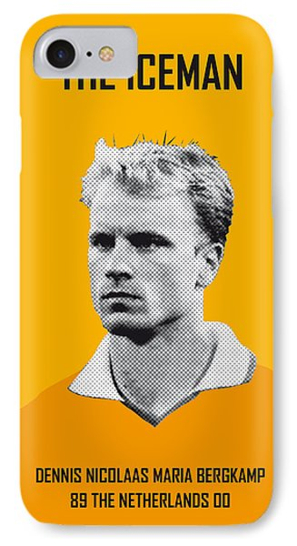 My Bergkamp Soccer Legend Poster IPhone Case by Chungkong Art