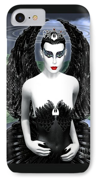 My Black Swan Phone Case by Keith Dillon