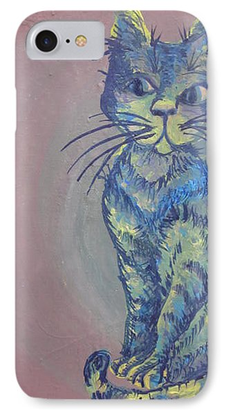 My Blue Cat Phone Case by Cherie Sexsmith