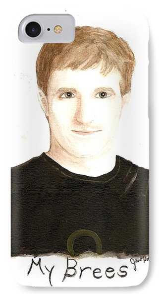 IPhone Case featuring the painting My Brees by June Holwell