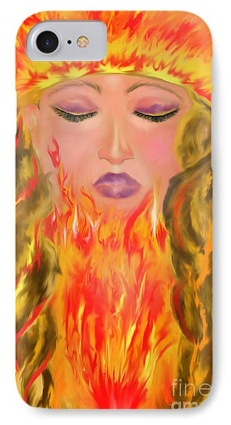IPhone Case featuring the painting My Burning Within by Lori  Lovetere