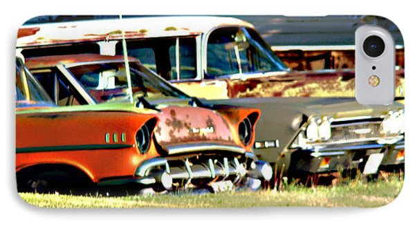 IPhone Case featuring the digital art My Cars by Cathy Anderson