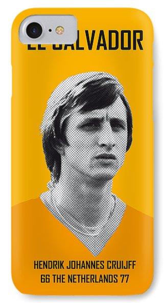 Pele iPhone 7 Case - My Cruijff Soccer Legend Poster by Chungkong Art