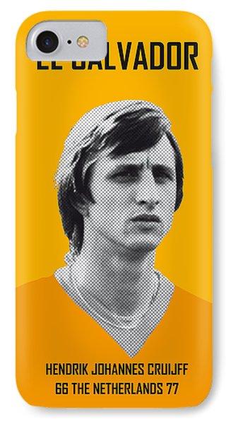 My Cruijff Soccer Legend Poster IPhone 7 Case by Chungkong Art