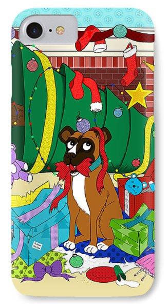 My Dog Ate Christmas Phone Case by Shawna Rowe