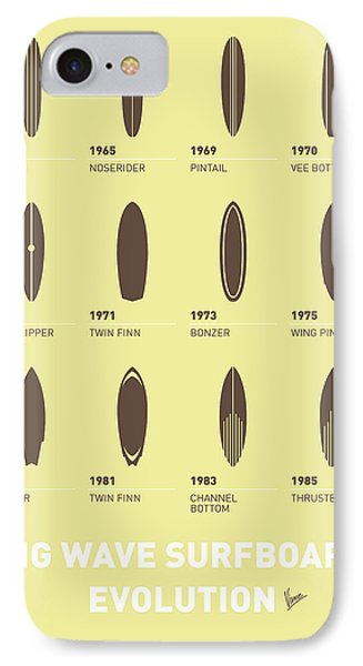 My Evolution Surfboards Minimal Poster IPhone Case