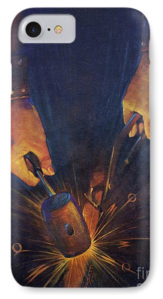My Fathers Hands IPhone Case by Rob Corsetti