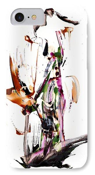 My Form Of Jazz Series - 10187.110709 IPhone Case by Kris Haas