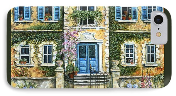 My French Villa IPhone Case by Marilyn Dunlap