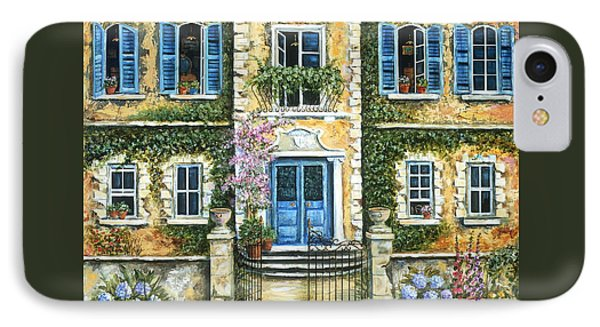 My French Villa Phone Case by Marilyn Dunlap