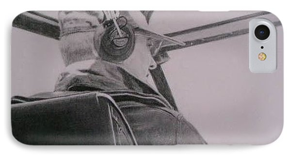 IPhone Case featuring the drawing My Hero by Mary Lynne Powers