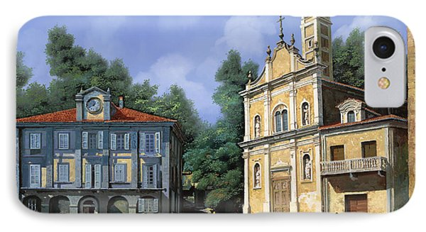 My Home Village Phone Case by Guido Borelli