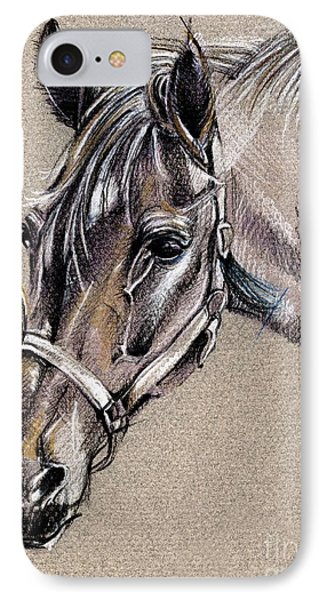 My Horse Portrait Drawing Phone Case by Daliana Pacuraru