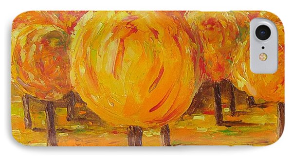 IPhone Case featuring the painting My Hot Autumn by Nina Mitkova