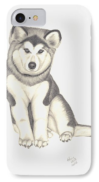 My Husky Puppy-misty Phone Case by Patricia Hiltz