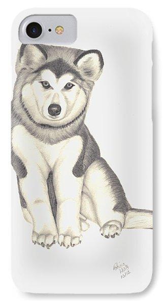 My Husky Puppy-misty IPhone Case by Patricia Hiltz