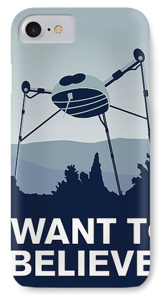 My I Want To Believe Minimal Poster-war-of-the-worlds IPhone Case