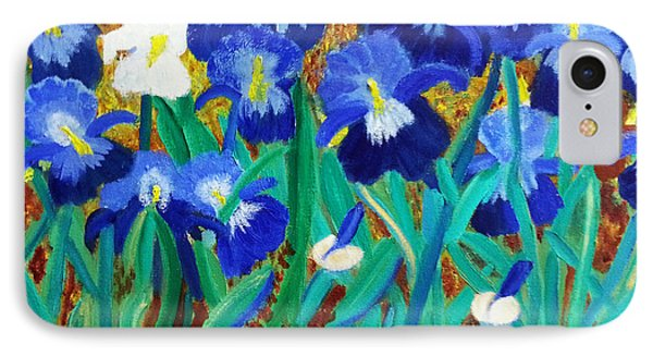 My Iris - Inspired  By Vangogh IPhone Case by Margaret Harmon